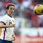 Megan Rapinoe on the soccer field