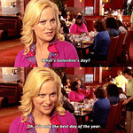 Amy Poehler as Leslie Knope on Parks and Recreation