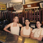 Danielle, Este, and Alana Haim, three white sisters,