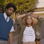 Tessa Thompson and Lakeith Stanfield in Sorry To Bother You (Photo courtesy of Annapurna Pictures)