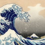 Painting of a blue wave