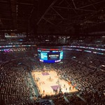 Views from the upper deck of a Los Angels Lakers game