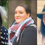 three Native women