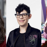 Cartoon creators Julia Pott, Rebecca Sugar, and Lauren Faust