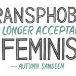 an illustration of feminists abandoning trans women header
