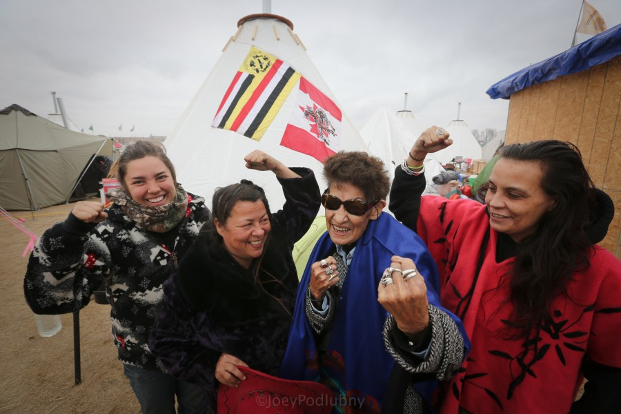 Activists at the Oceti Sakowin Camp