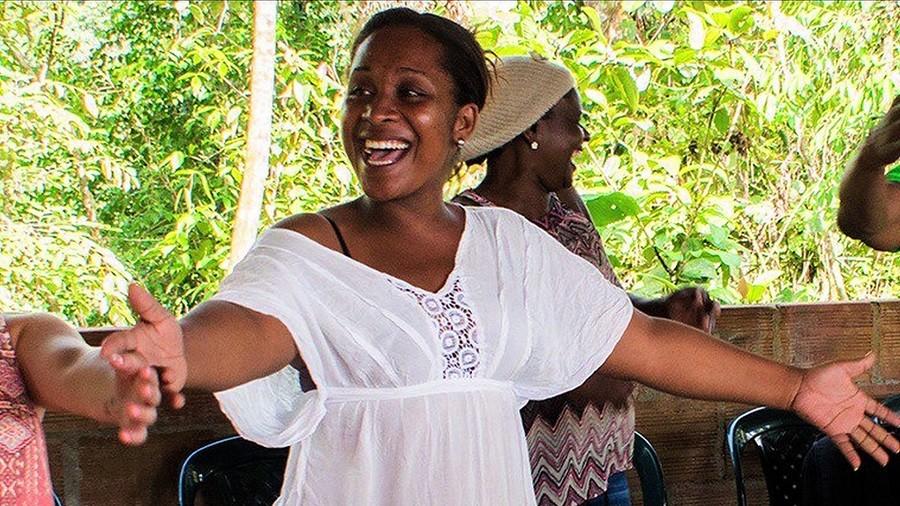 Afro-Columbian human rights activist Emilsen Manyoma