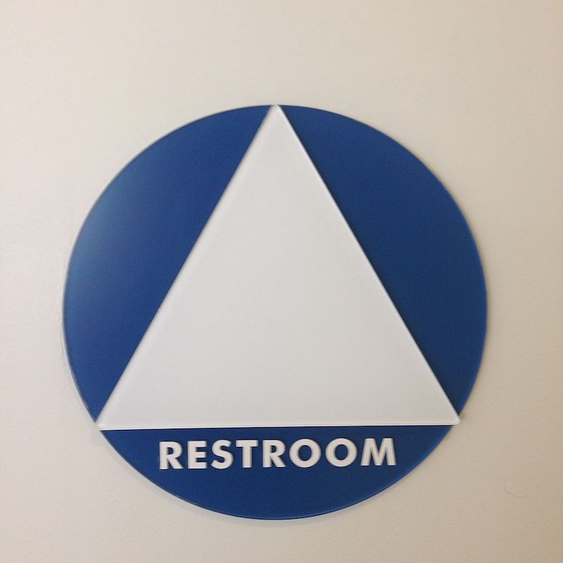 Bathroom Signs Circle And Triangle debunking five myths that fuel right-wing bathroom bills | bitch media