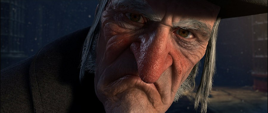 Jim Carrey as Ebeneezer Scrooge In A Christmas Carol