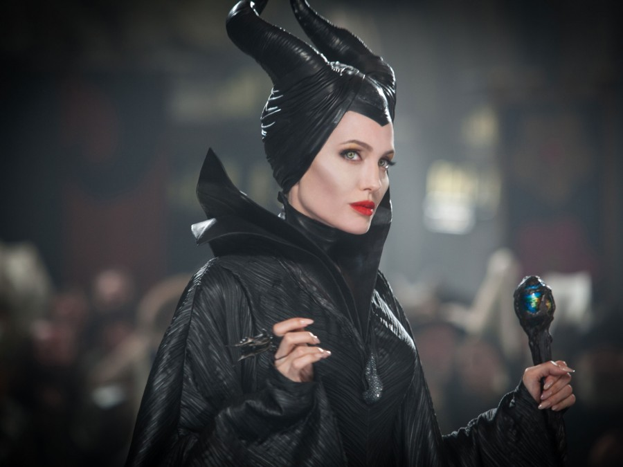 Angelina Jolie as the witch Maleficent
