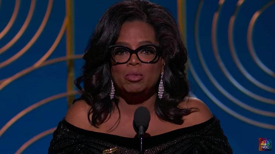 Oprah Winfrey at the Golden Globes