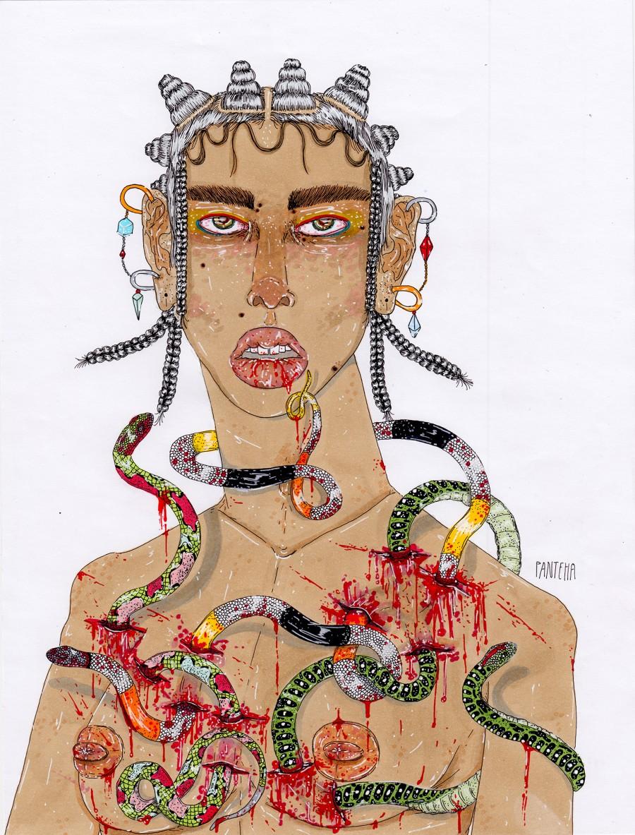 The Mortal Ones illustration by Panteha Abareshi