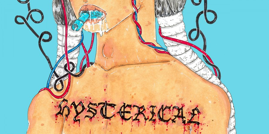 Disbelieving female pain illustration by Panteha Abareshi