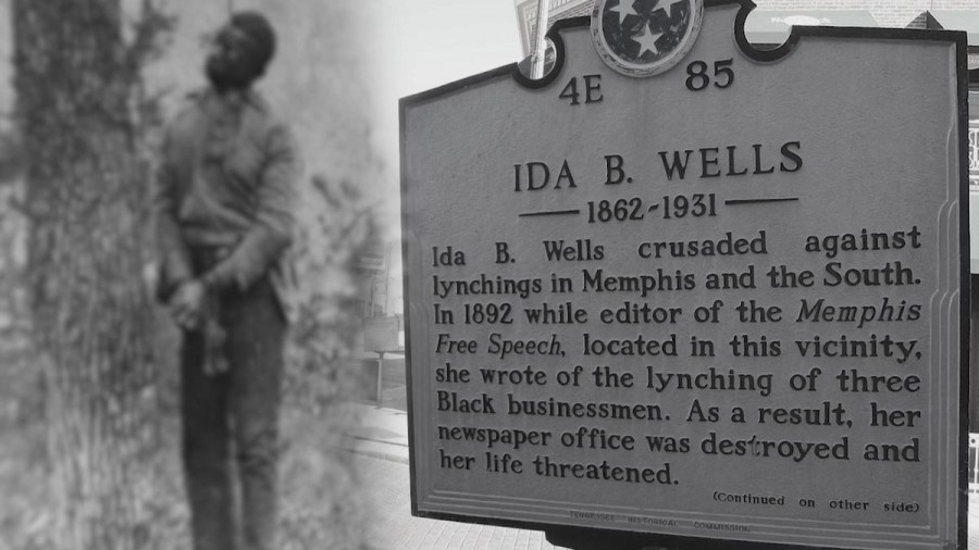 Ida B. Wells plaque in Tennessee