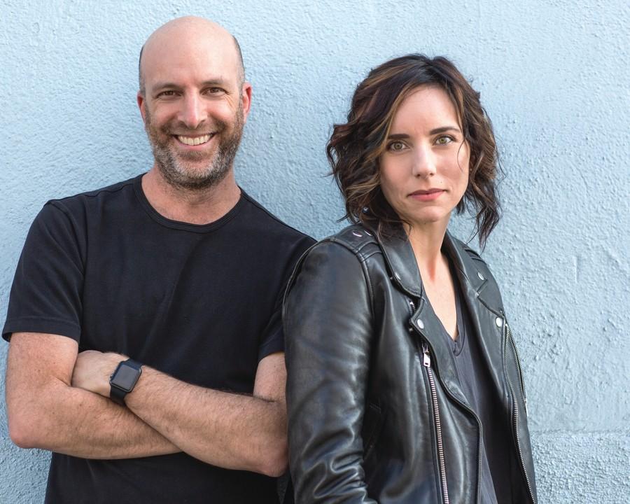Unpregnant authors Ted Caplan, left, and Jenni Hendricks