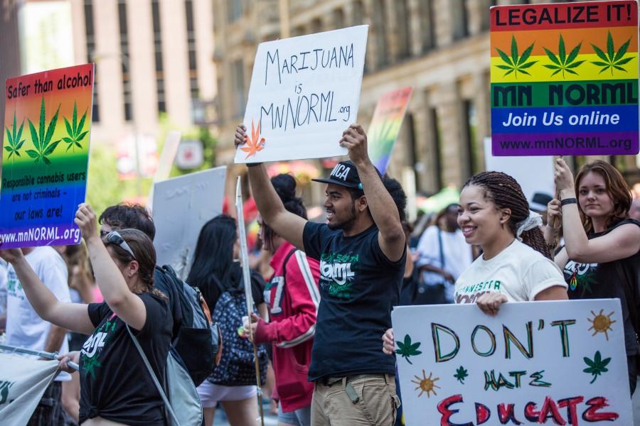 Legalize marijuana rally at the Twin Cities Pride Parade