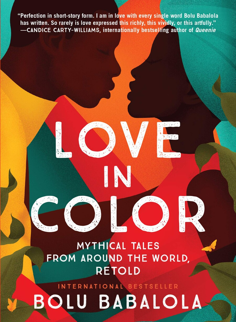 Love In Color, a book cover, features an illustration of a brown-skinned man and a brown-skinned woman appearing to kiss