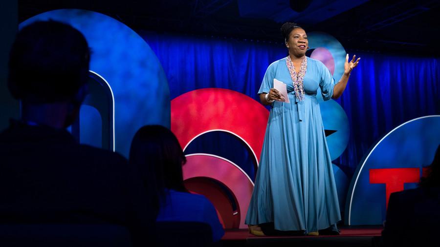 Tarana Burke gives a TED Talk