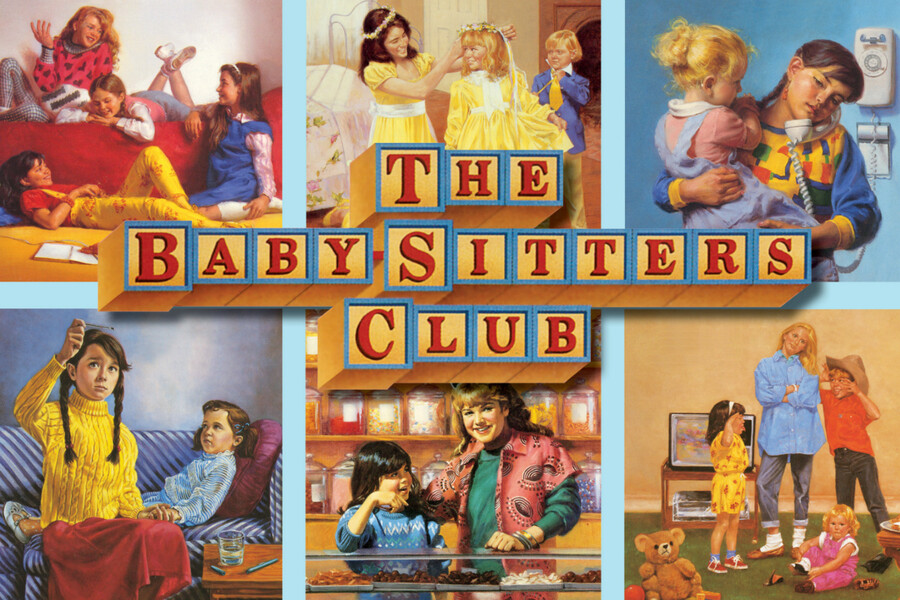 Collage of vintage Baby-Sitters Club book covers