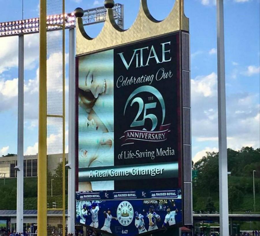 The Vitae Foundation ads at Kauffman Stadium