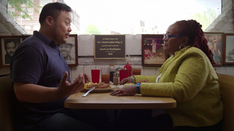 David Chang and Psyche Williams-Forson in the fried chicken episode of Ugly Delicious