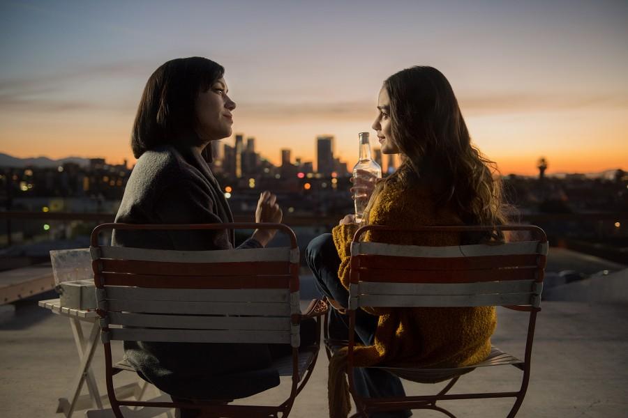 Melissa Barrera as Lyn and Mishel Prada as Emma in Vida