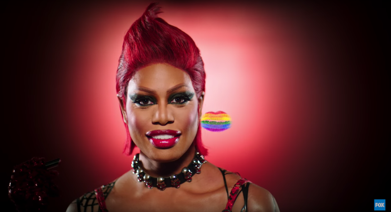 6dfec75a In a trailer for the new Rocky Horror Picture Show airing on Fox this week,  Laverne Cox á la Dr. Frank-N-Furter plants a kiss on the camera that then  turns ...