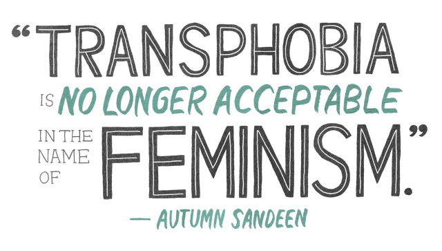 an illustration of feminists abandoning trans women header