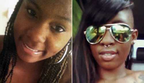 Angelia Mangum, 19, and Tjhisha Ball, 18