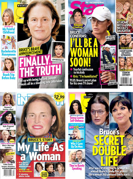 a collection of tabloid covers
