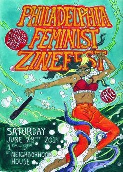 philly zine fest poster