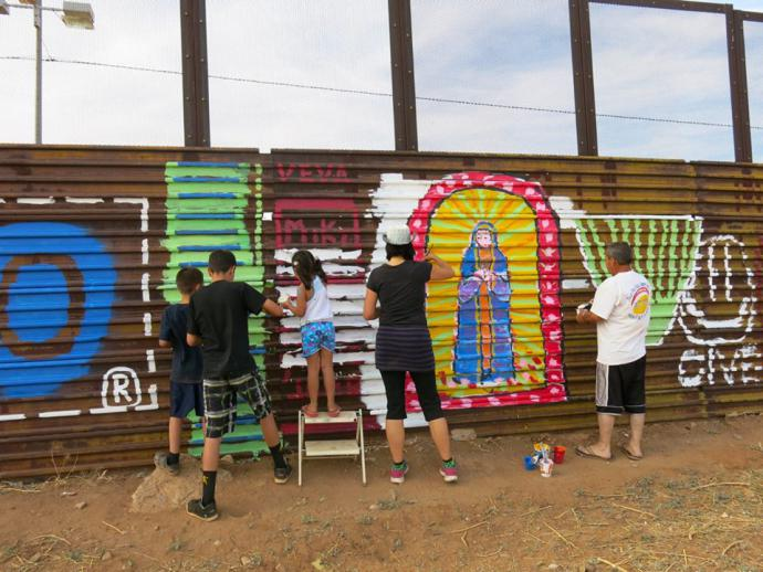 paintings on the border wall