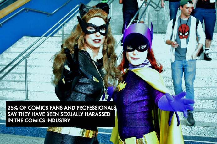 cosplaying classic batgirl and catwoman