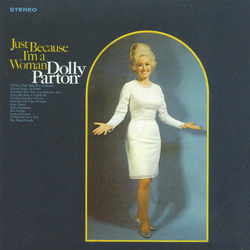 "dolly parton album cover ""just because I'm a woman"""