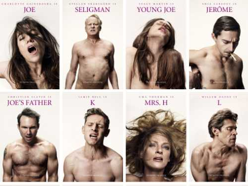 the poster for nymphomaniac shows many of the characters having orgasms