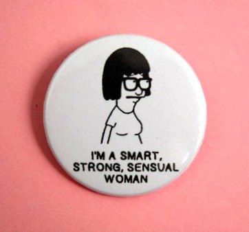 a tina belcher button