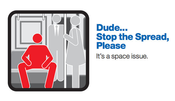 manspreading campaign