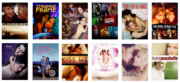 a dozen lesbian and bi films on netflix