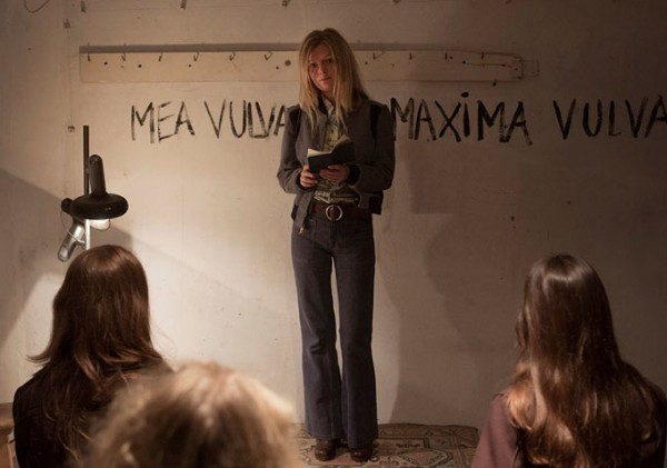 "a still from nymphomaniac has ""mea culpa mea vulva"" scrawled on a wall"