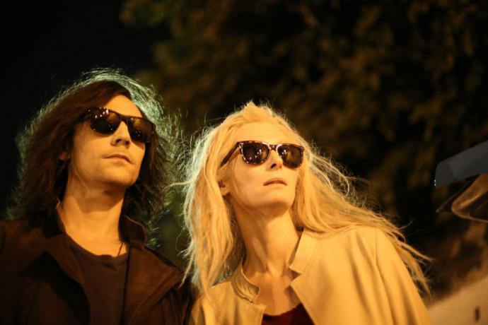 the main characters of only lovers left behind wear sunglasses at night