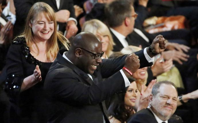 steve mcqueen jumping up at the oscars