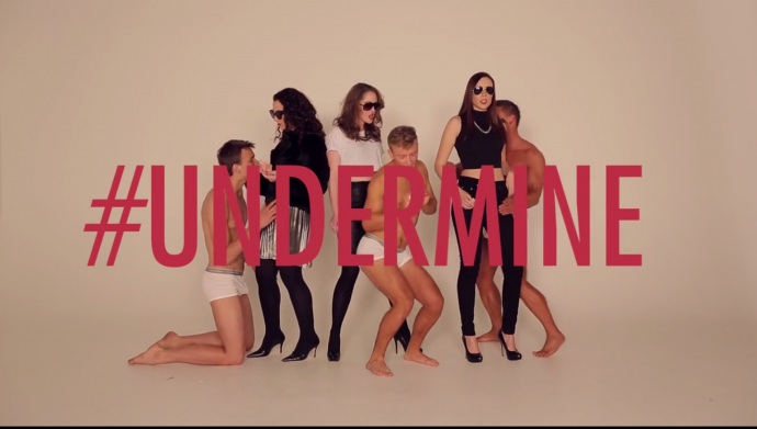 a parody of robin thicke's blurred lines video