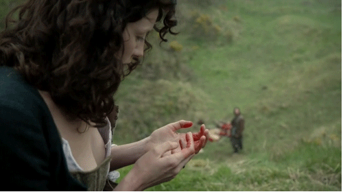 claire has blood on her hands