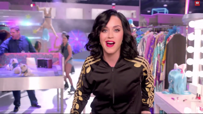 katy perry in an ad for the halftime show