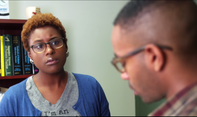 issa rae in a clip from her book trailer
