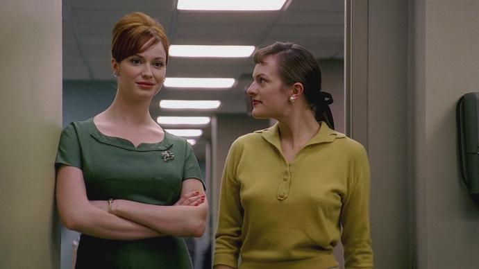 joan and peggy from mad men