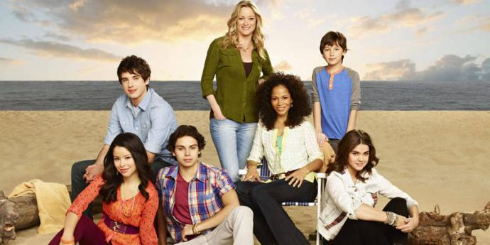 the fosters family on the beach
