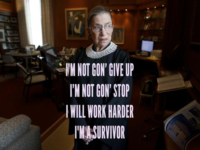 ruth bader ginsburg with a beyonce quote