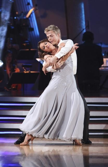 Jennifer Grey with partner Derek Hough.