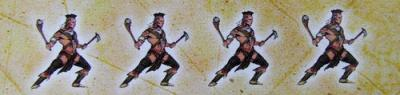 "Age of Empires III with stereotyped drawings of ""Native"" warriors symbolizing those you have to conquer in the game"